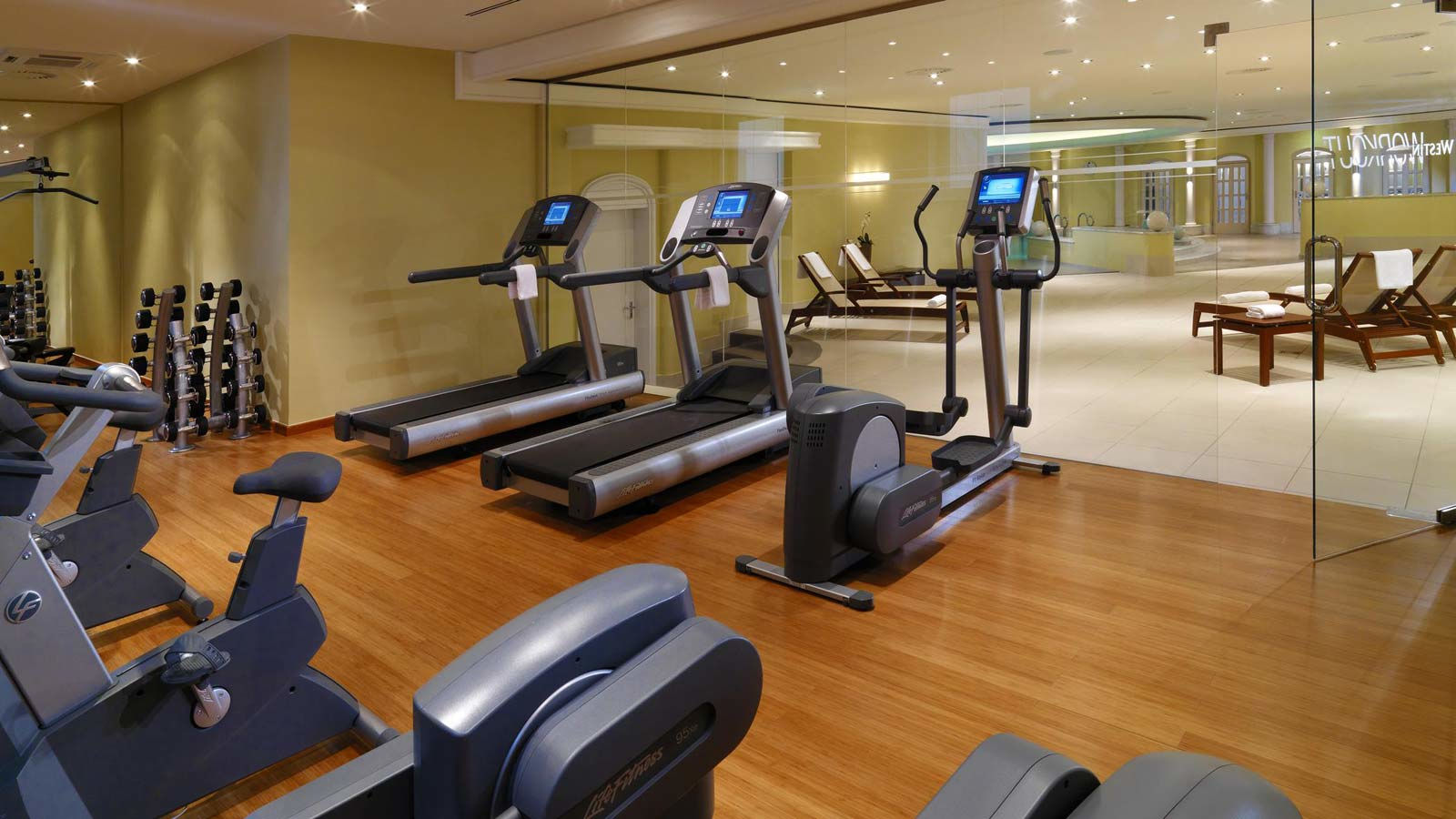 Fitness room at The Westin Spa Berlin