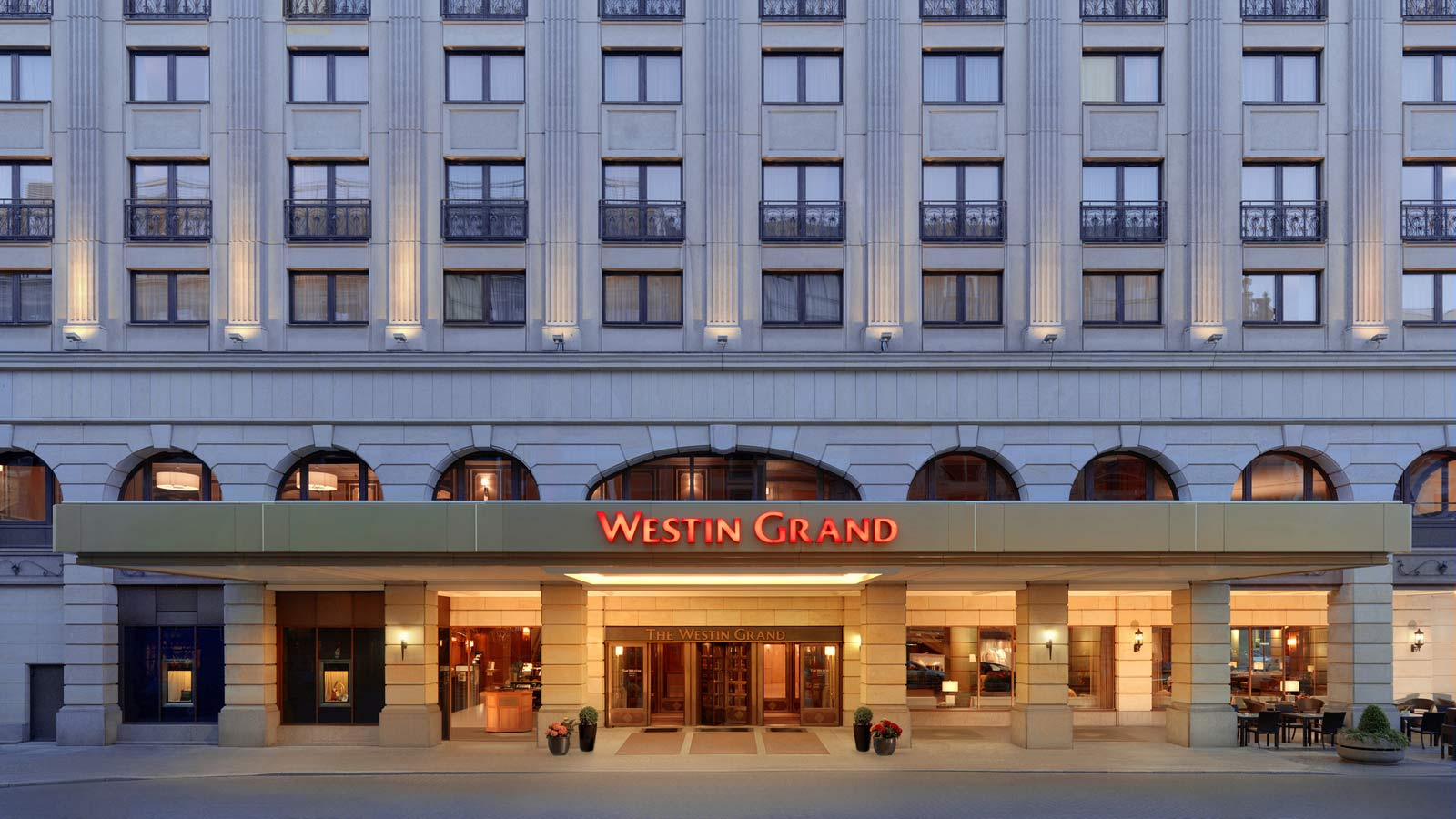 Main entrance drive of The Westin Grand Berlin