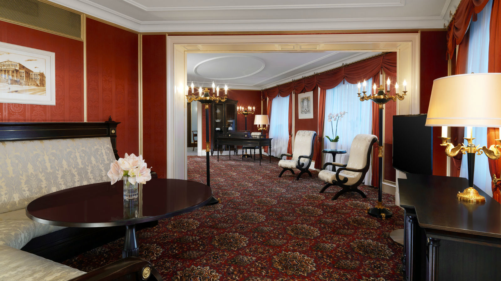 Presidential Suite linving area at The Westin hotel in Berlin