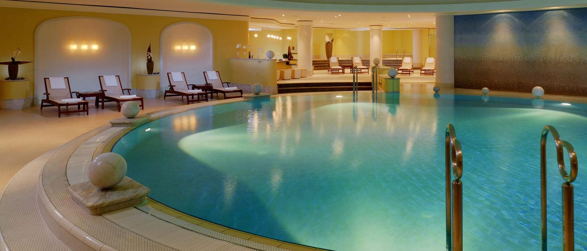 Heated indoor pool at The Westin Grand wellness hotel in Berlin